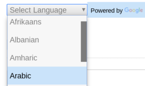 [Select Language]  Powered by Google translate widget.