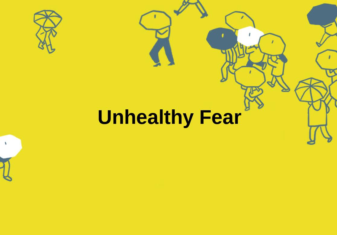 Frei von ungesunder Angst