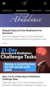 LONGEVITY Mindfulness App- Extend YOUR Lifespan 21 Days of Abundance Challenge Tasks and Meditations