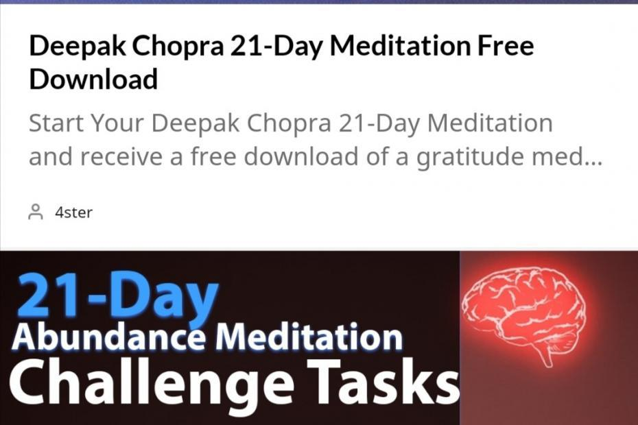 21 Days of Abundance Challenge Tasks and Meditations
