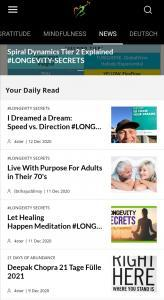 LONGEVITY Mindfulness App NEWS